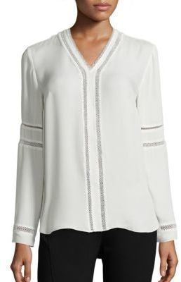 Elie Tahari Damaris Silk Blouse $268 thestylecure.com
