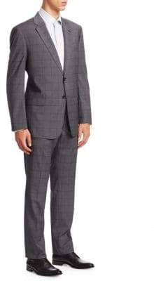 Giorgio Armani Checkered Wool Suit