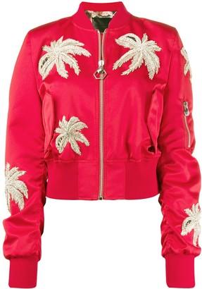 Philipp Plein crystal embellished bomber jacket