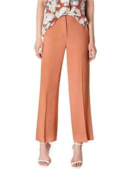 Bianca Spender Ocre Crepe Bootleg Cropped Pant