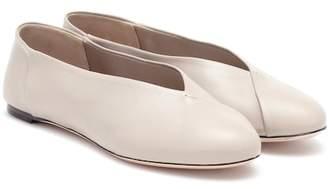 Max Mara Anne leather ballet flats