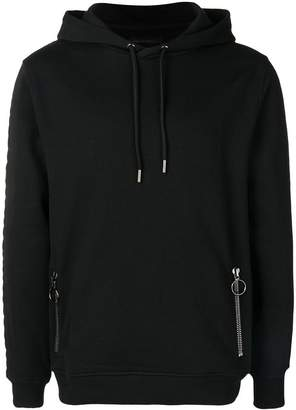 Frankie Morello side logo panelled hoodie