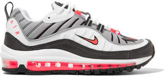 Nike Air Max 98 Leather And Mesh Sneakers - White