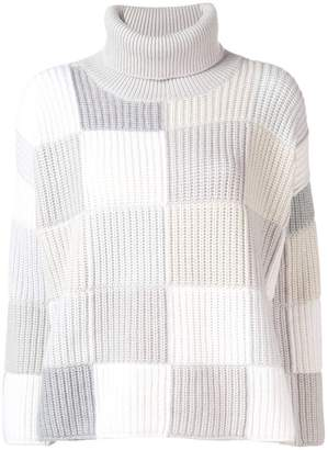Cruciani checked turtleneck jumper