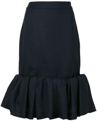 Jacquemus ruffle trim skirt