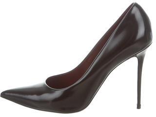 CelineCéline Leather Pointed-Toe Pumps
