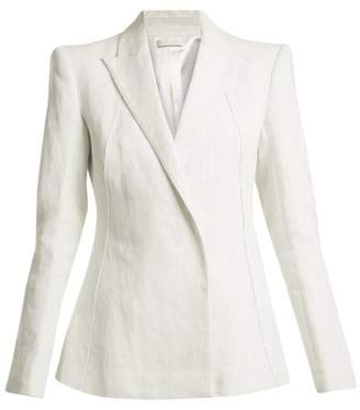Carl Kapp - Masera Peak Lapel Linen Jacket - Womens - White