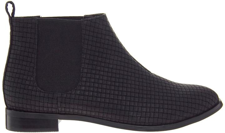 Asos ARIZONA Woven Chelsea Boots - Black