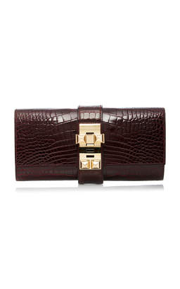 Hermes Heritage Auctions Special Collections 23cm Bordeaux Shiny Alligator Medor