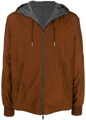 Ermenegildo Zegna reversible hooded jacket