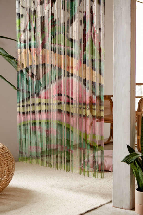 Fauvist Bamboo Beaded Curtain