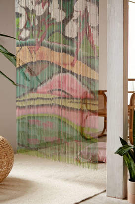 Fauvist Bamboo Beaded Curtain