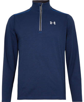 Under Armour Streaker Striped Heatgear Half-Zip Top