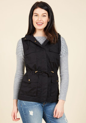 Love Tree Fashion Inc High-Trail It Outta Here Vest in Black $39.99 thestylecure.com