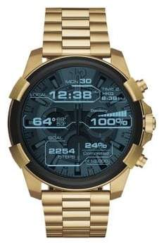 Diesel Goldtone Digital Touchscreen Smartwatch