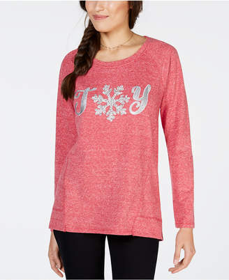 Style&Co. Style & Co Petite Joy Graphic-Print Sweatshirt