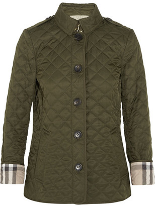Burberry - Quilted Shell Jacket - Army green $595 thestylecure.com