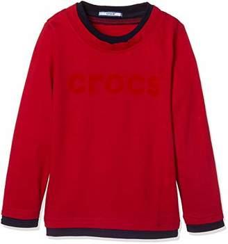 Crocs (クロックス) - [クロックス] CROCSフェイクレイヤードロングTシャツ148120 2018 ボーイズ RD 日本 130 (日本サイズ130 相当)