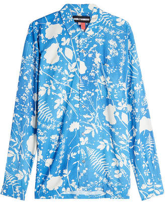 Double Rainbouu Long Sleeved Dream Field Hawaiian Shirt