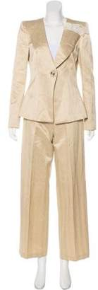 Giorgio Armani Satin Structured Pantsuit