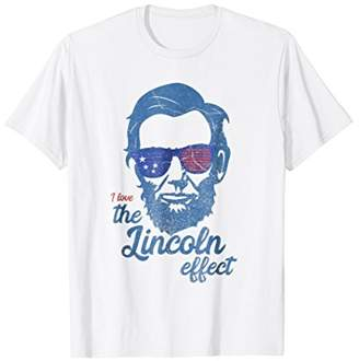 Abe Lincoln T shirt 4th of July I Love the Lincoln effect
