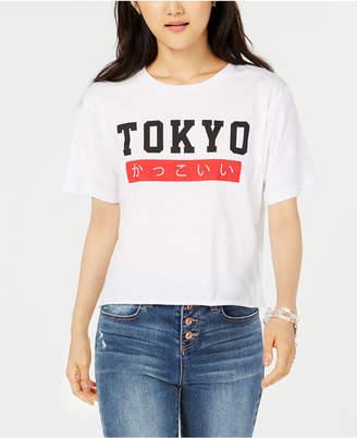 Rebellious One Juniors' Tokyo Crop Graphic T-Shirt
