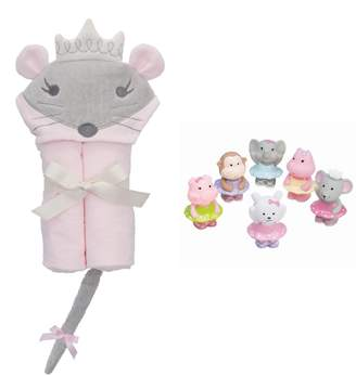 Elegant Baby Princess Mouse Squirties Bath Wrap & Bath Toys Set