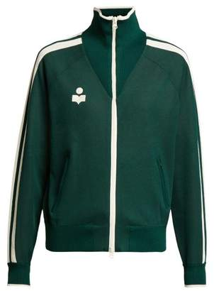 Etoile Isabel Marant Darcy High Neck Zip Through Track Jacket - Womens - Green
