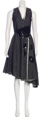 Bottega Veneta Chambray A-Line Dress
