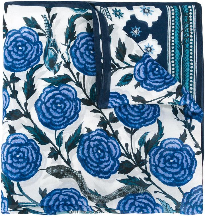Roberto CavalliRoberto Cavalli floral print scarf