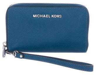 Michael Kors Michael Textured Leather Phone Wallet