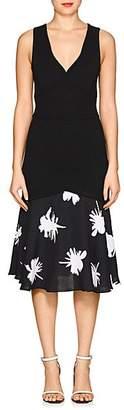 Prabal Gurung WOMEN'S RIB-KNIT DROP-WAIST DRESS - BLACK SIZE XS
