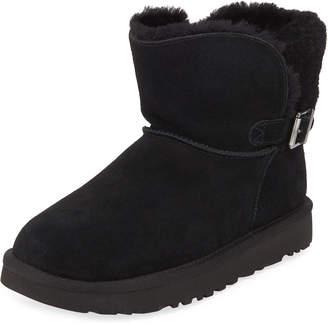 UGG Karel Suede Buckle Boots, Black