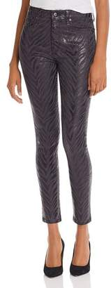 Joe's Jeans The Charlie Ankle Jeans in Charcoal Foil Zebra - 100% Exclusive