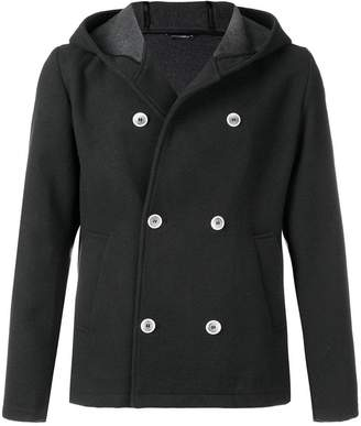 Daniele Alessandrini double breasted hooded jacket