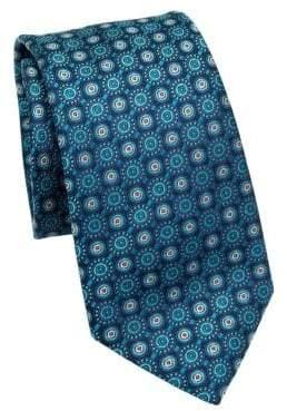 Saks Fifth Avenue COLLECTION Medallion Pattern Silk Tie