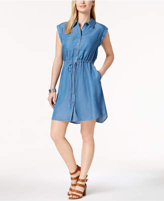 Style&Co. Style & Co Petite Denim Shirtdress, Created for Macy's