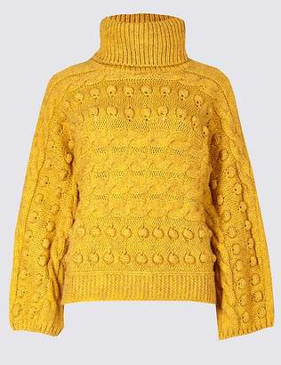 Marks and Spencer Cable Knit Roll Neck Jumper