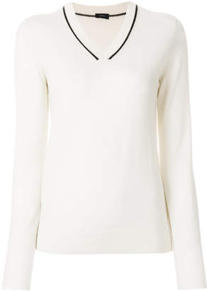Joseph V-neck fitted sweater
