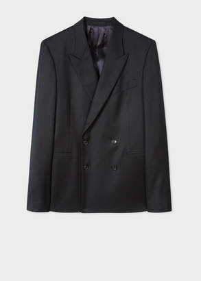 Paul Smith Men's Black Double-Breasted Wool Blazer