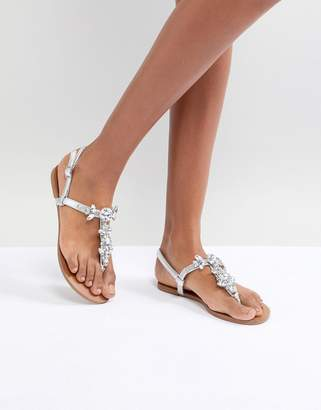 Lipsy Jelly Flat Sandal With Embellished Floral Detail outlet shop for BDR4C