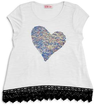 Design History Girls' Reversible-Sequin-Heart Tee - Little Kid