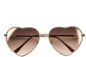 BP Junior Women's Heart Shaped 58Mm Sunglasses - Gold/ Brown