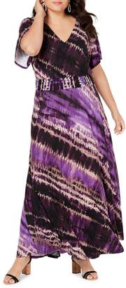 INC International Concepts Plus Tie-Dyed Maxi Dress