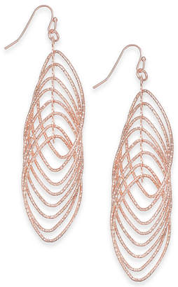 INC International Concepts I.n.c. Navette Multi-Ring Drop Earrings