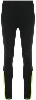 DKNY contrast rear panel leggings