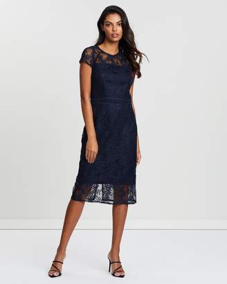 Dorothy Perkins Short Sleeve Lace Pencil Dress