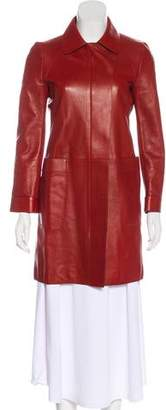 Gucci Leather Structured Coat