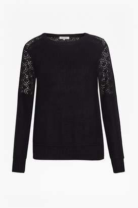 Great Plains Louvre Lace Rib Detail Sweater