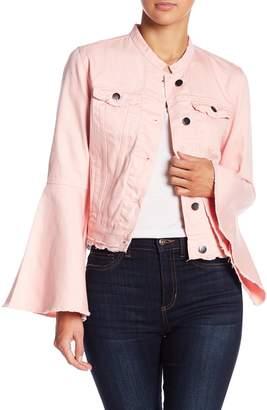Romeo & Juliet Couture Bell Sleeve Denim Jacket
